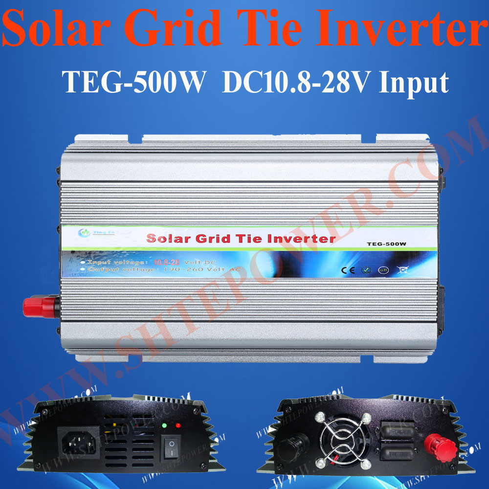 Pure sine wave 10.5-28V DC to 90-130V AC grid tie power inverter 500w inverter(China (Mainland))