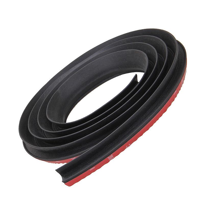 Universal Car Sound Insulation 2m P/D-Shape Sound Proof Strip Edge Side Seal Weatherstrip Rubber Black Car Door Seal(China (Mainland))