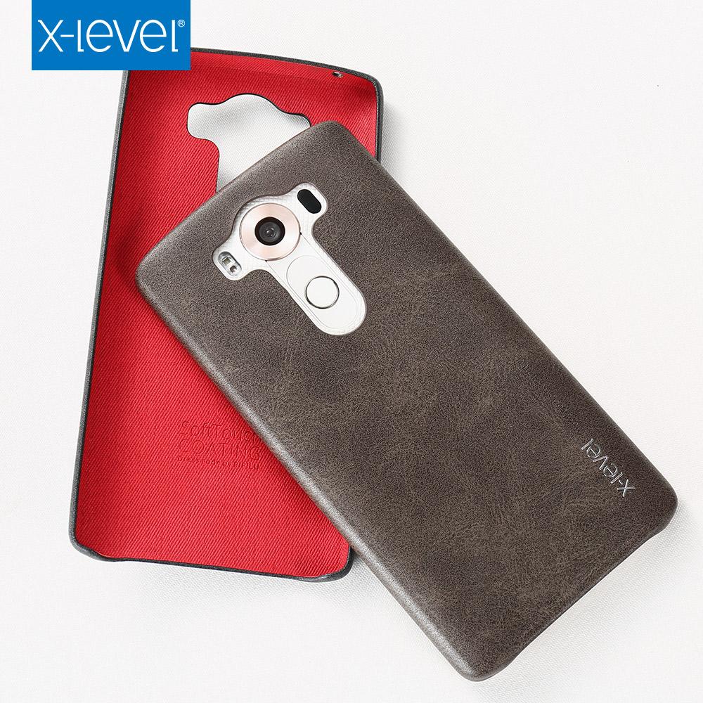 LG V10 Case,X-Level PU leather For Phone Case V10,Back Cover For LG V10 Case Brown(China (Mainland))