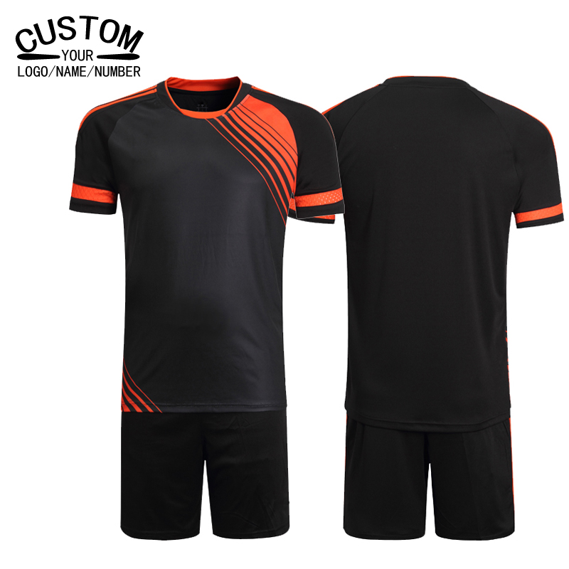 New Brand Custom Soccer Uniform Men Soccer Kits Soccer Football Team Jerseys 2016 2017 Sets Football Shirts Futbol Clothing(China (Mainland))
