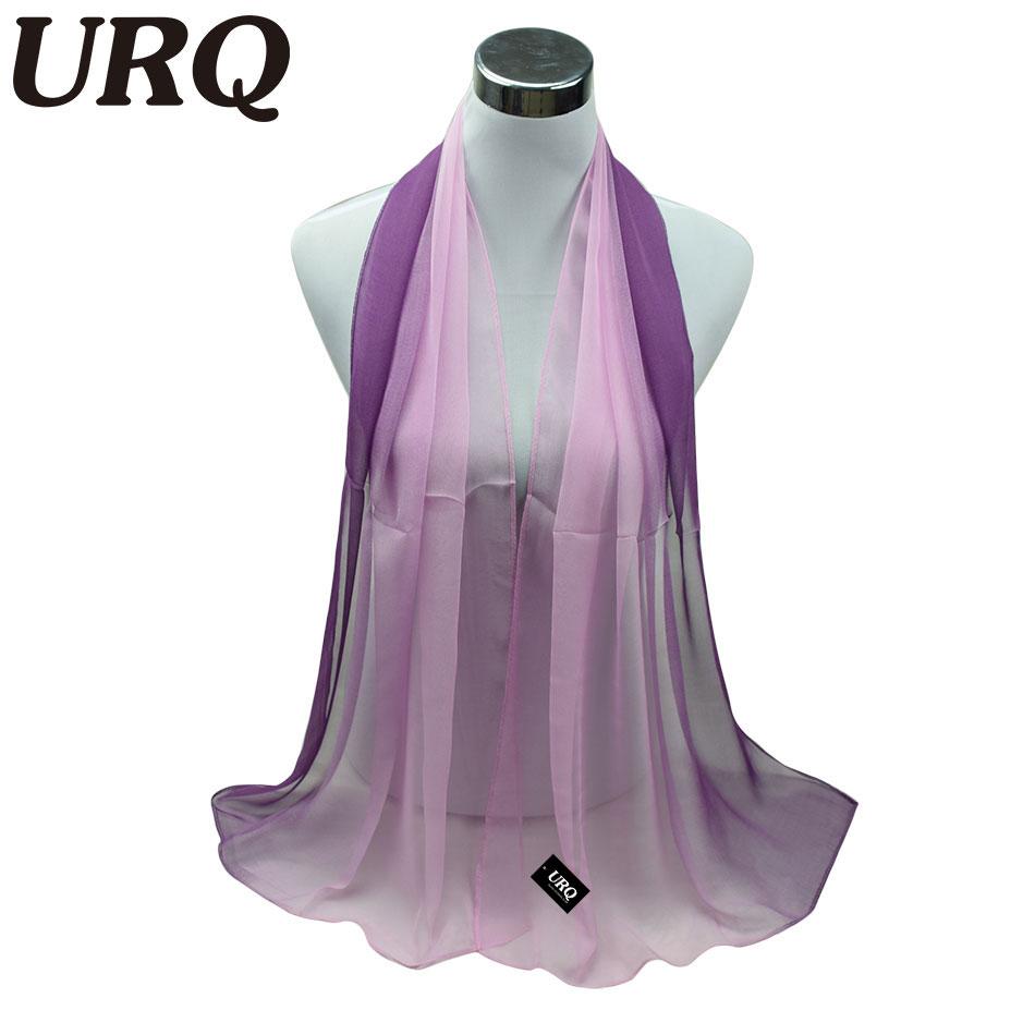 1PC Hot Fashion Shawl Scarf Chiffon Glitter Ombre Hijab Neck Warmer Silk Scarf Women Girls Cape 50*160 Long Headband Q5A16007(China (Mainland))