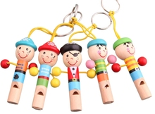 Toddler Toys Cartoon Wooden Whistle Colorful Mini Musical Instruments For Kids Developmental Music Toys For Baby Boy Girls(China (Mainland))