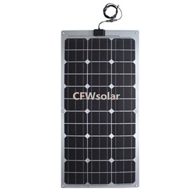 rechargeable batteries, solar batteries 60W. solar panel 18Vmp with aluminum plate, solar panel with cable and MC4 connector<br>