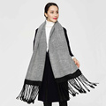 2017 New Luxury Scarf Winter Women Scarf Female Cotton Solid Scarf Best Quality Pashmina Long Tassels