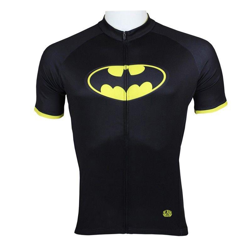 New Mens Cycling Jersey Comfortable Bike/Bicycle Shirt  Batman  Black  cycling clothing Size 2XS-5XL AL-1016<br><br>Aliexpress