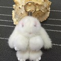 Real Mink Fur Cute Rabbit Keychain Real Fur Material Pendant Cute Toy Rabbit Fashion Bag Charms