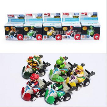 Cute Super Mario Brothers Kart Game Bowser Luigi Waluigi Yoshi Pull Back Care Figure Toys Free Shipping 100Sets/Lot<br><br>Aliexpress