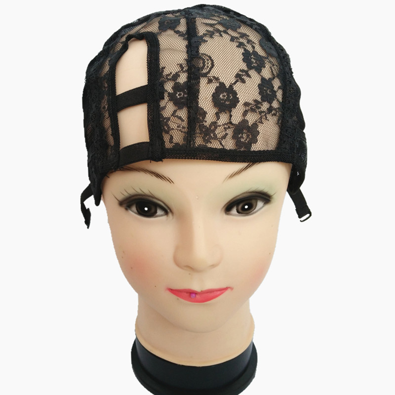 """1""""*3.5"""" U Part Wig Cap with Adjustable Strap and Spun Fish Net Left/Centre/Right Parting For Hand Made Wig Four Colors to Choose(China (Mainland))"""