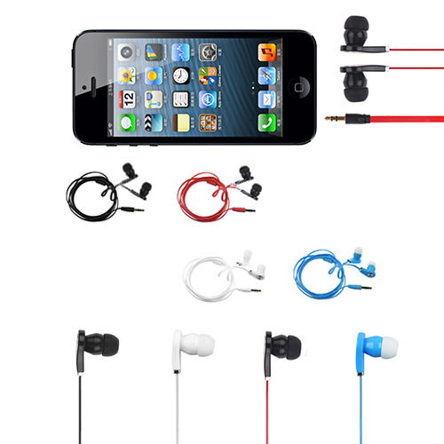 Headset 3.5mm In-Ear Earbuds Earphone Headphone For iPhone Samsung MP3 iPod PC(China (Mainland))