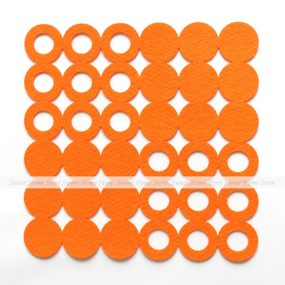 compare prices on cutting mat table online shoppingbuy low price  - yazi pcs laser cut circle felt placemats dining bar heat insulation tablemats square orange(
