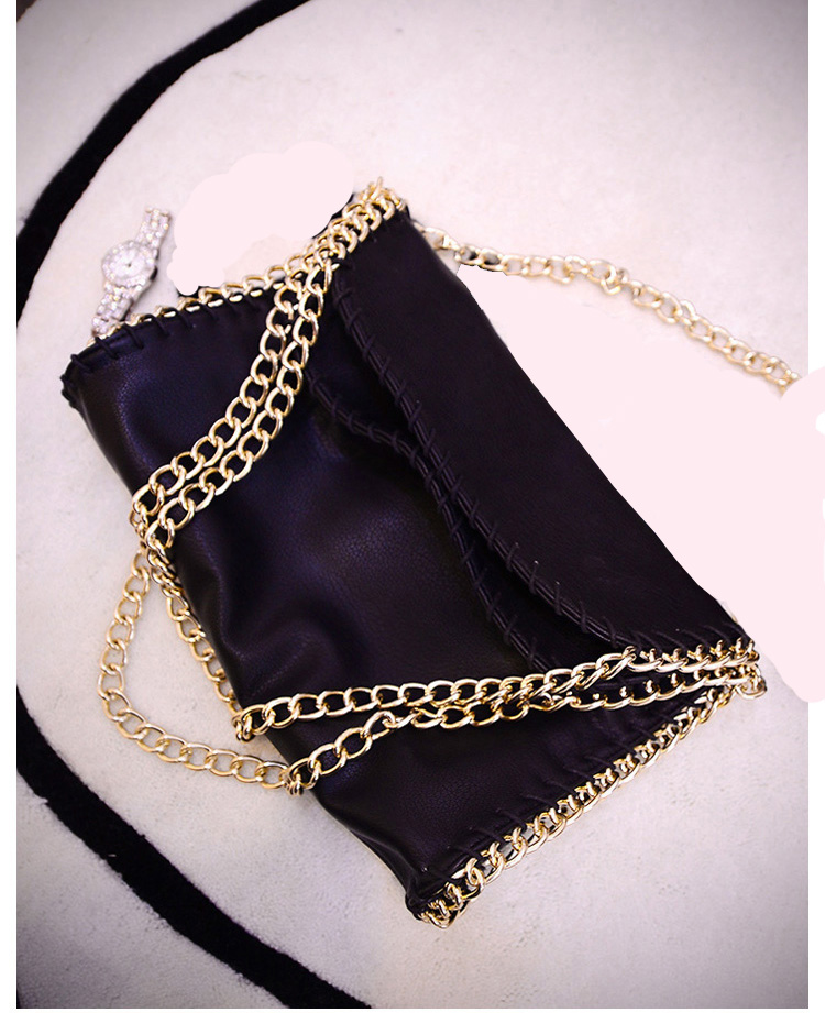 2016 new Shoulder Bag Messenger Bag hand bag are pure PU fabric bag purse cortex small black all-match personality(China (Mainland))