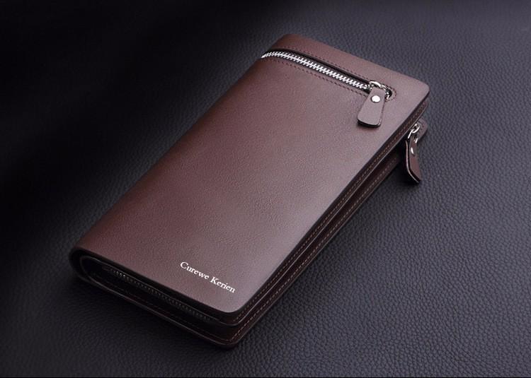 Мужской вместительный бумажник фото