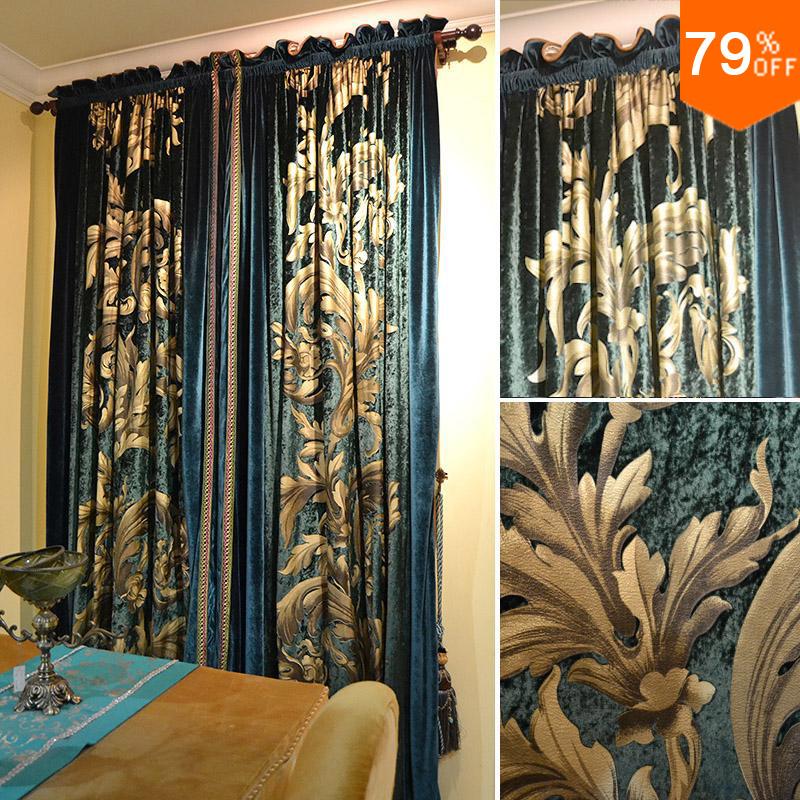 Popular Peacock Blue Velvet Curtains Buy Cheap Peacock Blue Velvet Curtains Lots From China