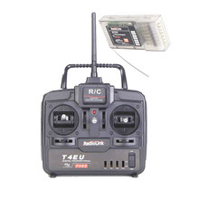 RadioLink 2.4G 4 CH Transmitter,Controller,Radio(T4EU ) with 7CH Receiver (R7EH)For KK MK Quadcopter Aircraft Helicopter