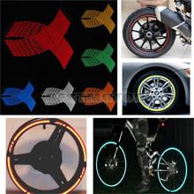 16 Strips Wheel Sticker Reflective Rim Stripe Tape Bike Motorcycle Car 16 17 18inch(China (Mainland))
