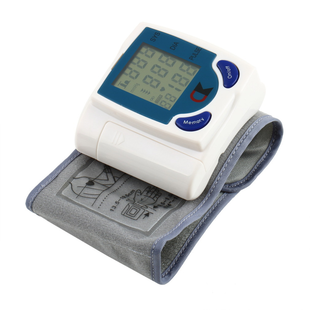Digital LCD Wrist Arm Blood Pressure Monitor With Heart Beat Rate Pulse Measure Health Care Monitors Meter Free Shippingr(China (Mainland))