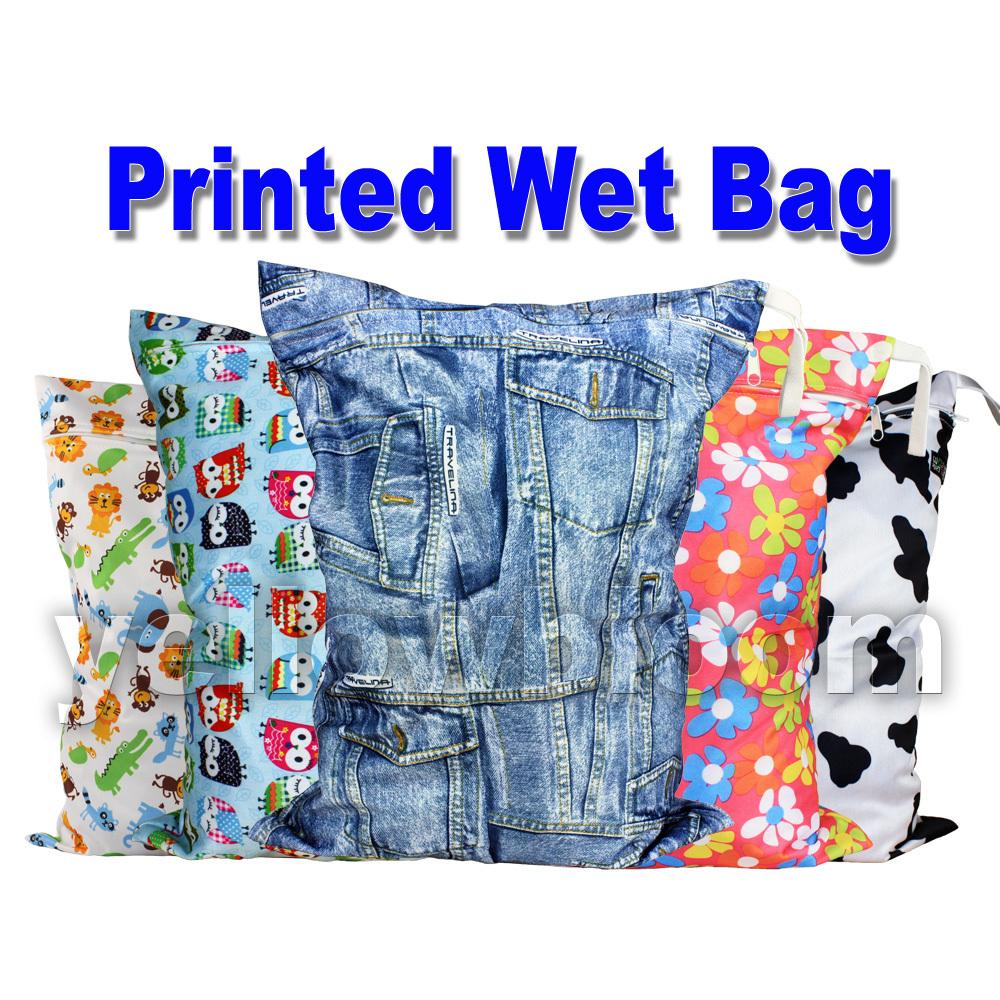 Washable Reusable Cloth Nappy Wet Bag / Waterproof Swim Sport Travel Carry bag / Big Size:40X30cm Diaper Bag Baby Wet Nappy Bag(China (Mainland))