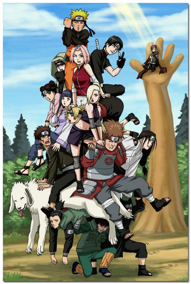 Naruto Shippuden Characters font b Japan b font font b Anime b font Game Silk Posters