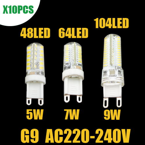 10pcs/lot G9 LED 220V-240V Corn Lamp  5W 7W 9W Replace for Droplight Chandelier Crystal Lamp  Warm Cold White Free Shipping(China (Mainland))