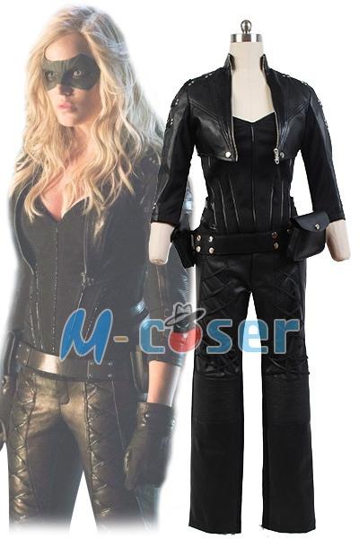 1Set/Lot Green Arrow Black Canary Sara Lance Outfit Cosplay Movie Costume Custom Made
