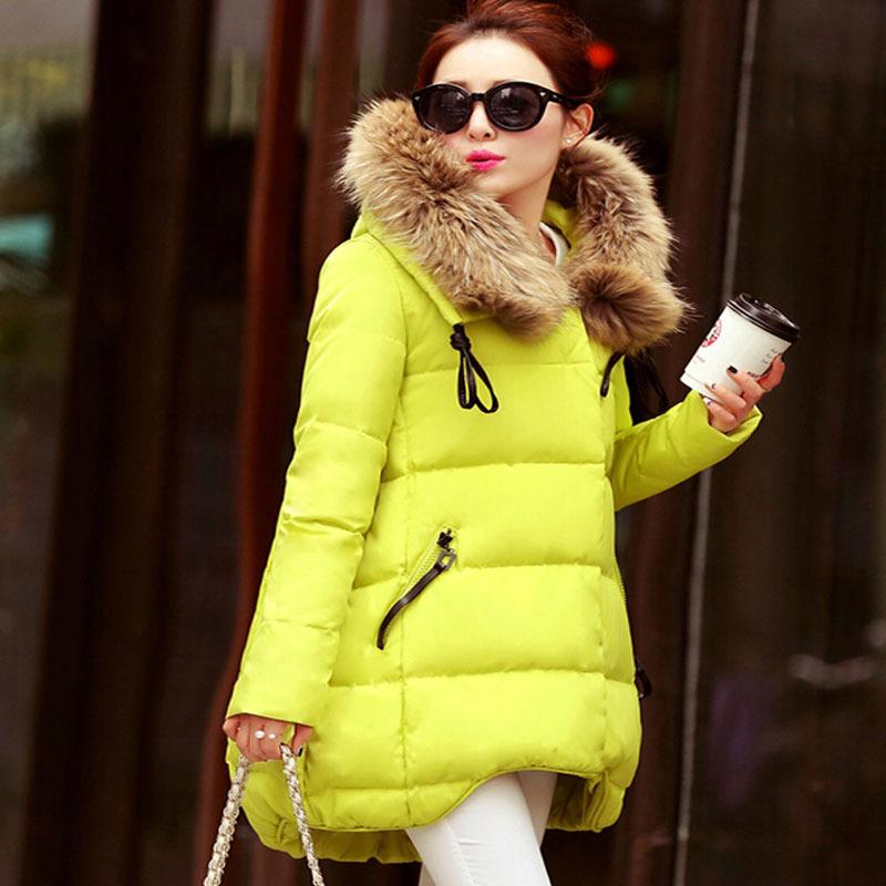 2015 New Women Duck Down Jacket Large Fur Collar Thickening Hooded Women Down Parkas Women Winter Coat Black Down Jackets(China (Mainland))