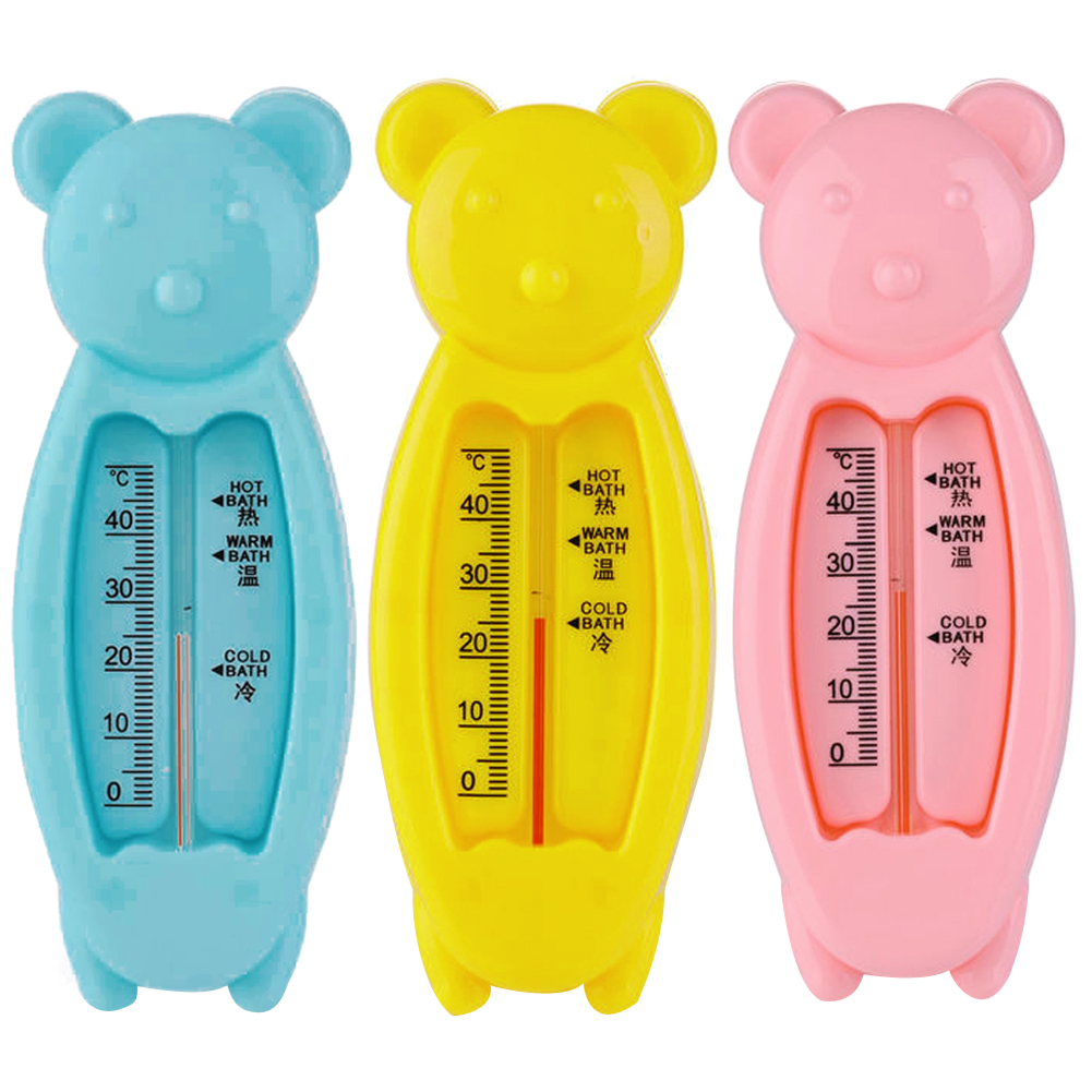 Top quality Bear Lovely Plastic ABS Float Toy Baby Bath Tub Water Sensor Thermomet Celsius Degree Water Thermometer(China (Mainland))