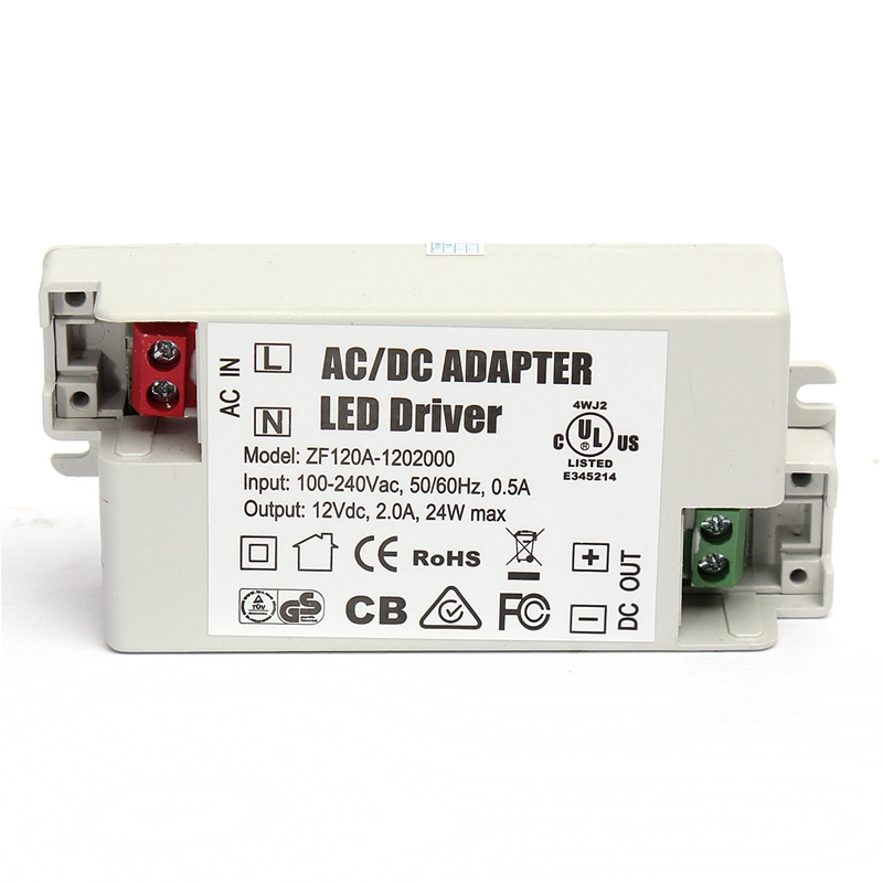 High Quality Low Power Consumption AC/DC Adapter 24W 2A Led Driver 12V Lighting For Transformers Power Supply Light Lamp Bulb(China (Mainland))