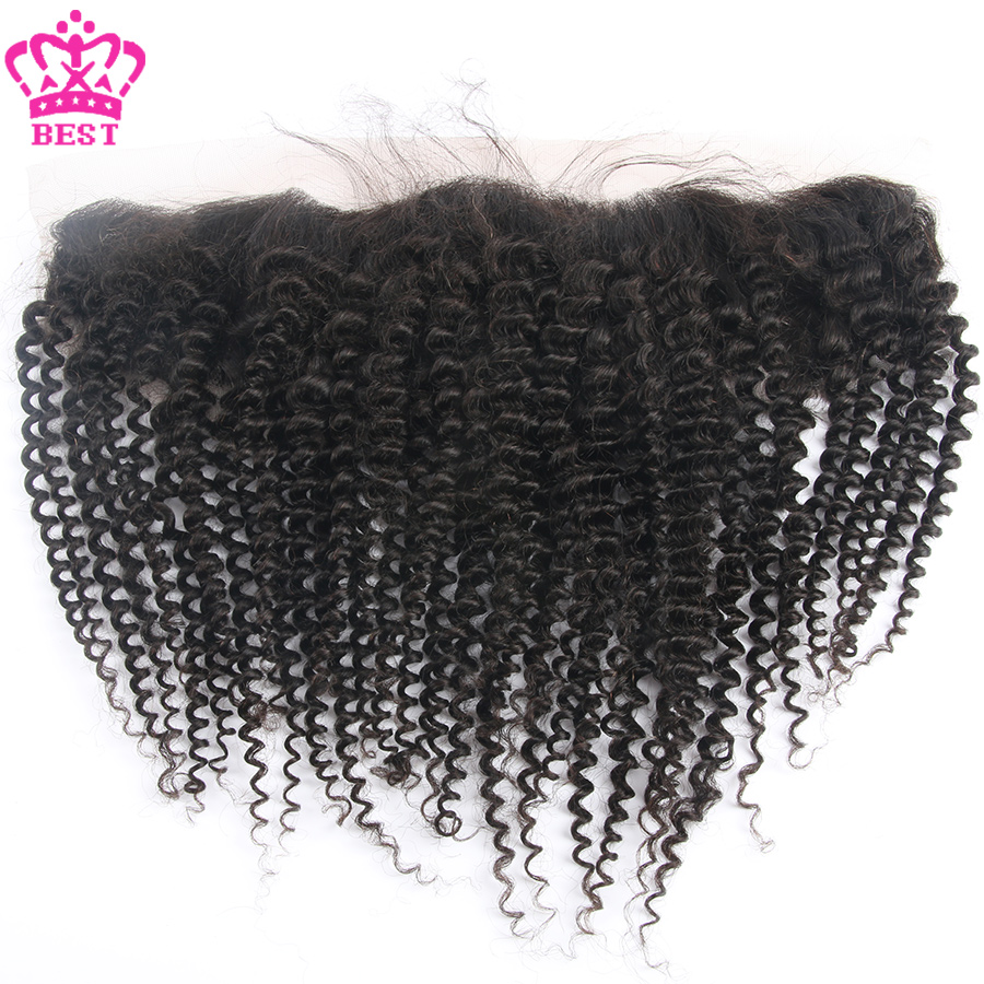 Stock!Brazilian Kinky Curly Frontal 100% Unprocessed Virgin Hair 13x4 Kinky Curly Full Lace Frontal With Baby Hair Free Shipping<br><br>Aliexpress