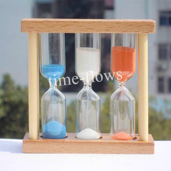 2019 wooden sand clock watch glass hourglass timer 1 3 5 min for tea