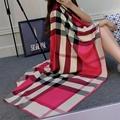 130 130 2016 Big Size plaid scarf foulard femme women luxury brand Pashmina warm Cloak Poncho