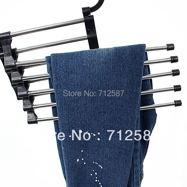 Magic trousers hanger/rack multifunction pants hanger/rack 5 in one Free shipping#8726