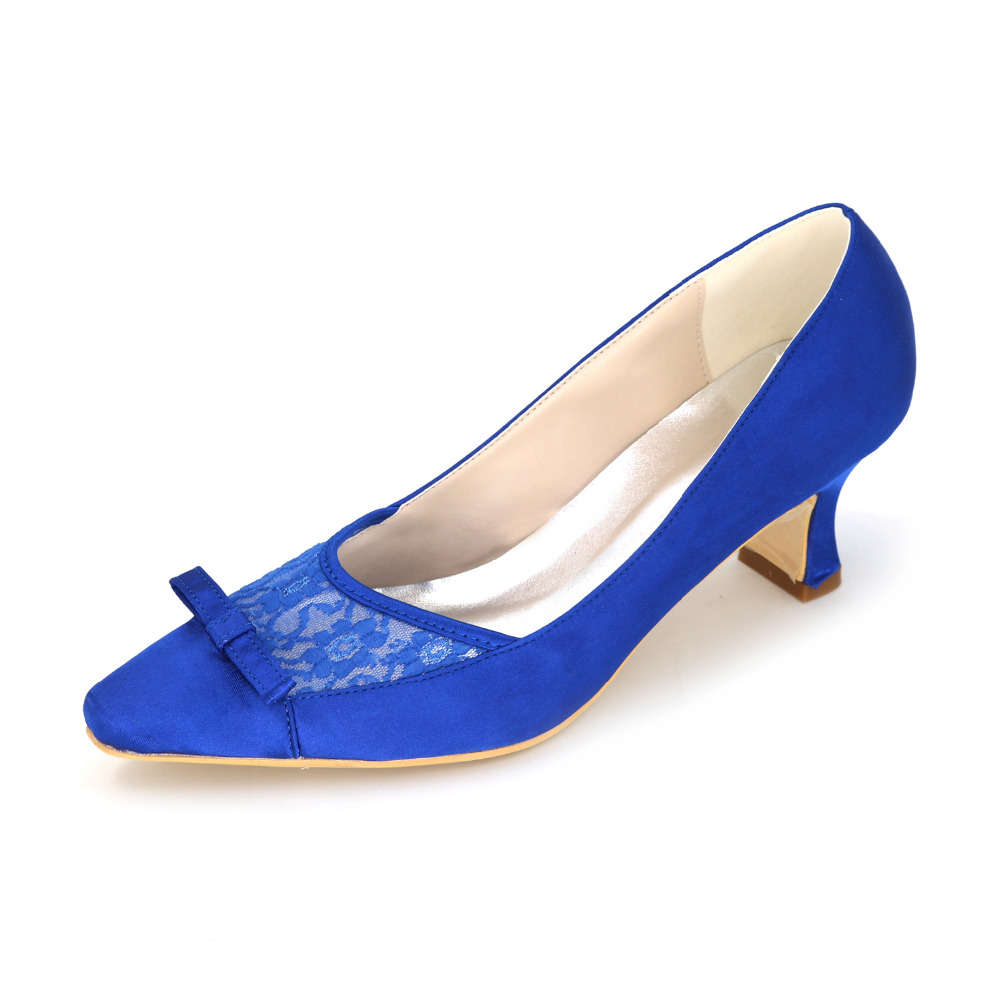 Royal Blue Low Heel Shoes - Is Heel