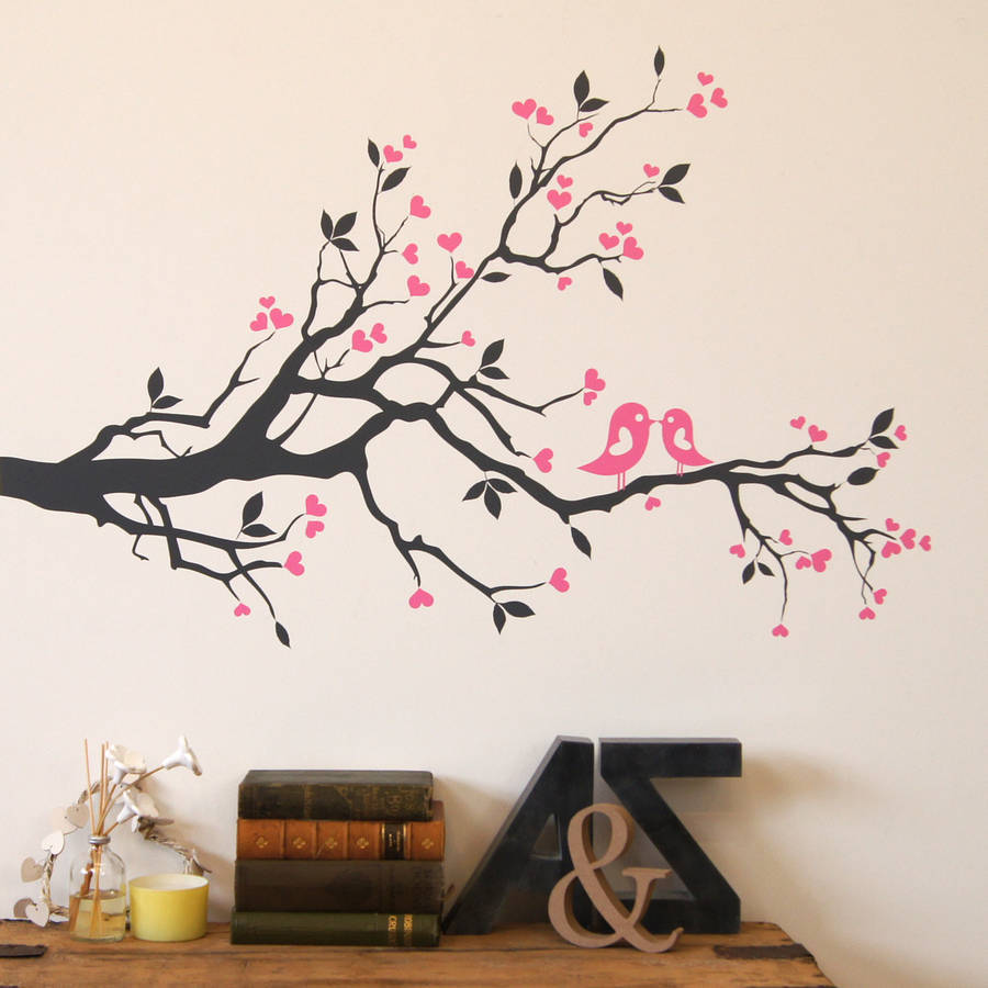 L53 Art Wall Stickers home decor removable vinyl mural Modern Bare Winter big Large Trees birds Wall Decal for Home and Office(China (Mainland))