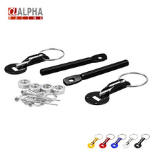 Alpha Racing-Fit ALL Racing Speed aluminum Alloy Silver Bonnet Hood Pin Lock Kit Down Hood Lock Pins(China (Mainland))