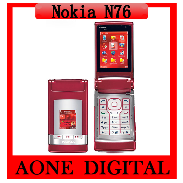 Original Refurbished Nokia N76 3G 2MP Symbian OS Bluetooth Java Unlocked Mobile Phone Free Shipping by China Post(China (Mainland))