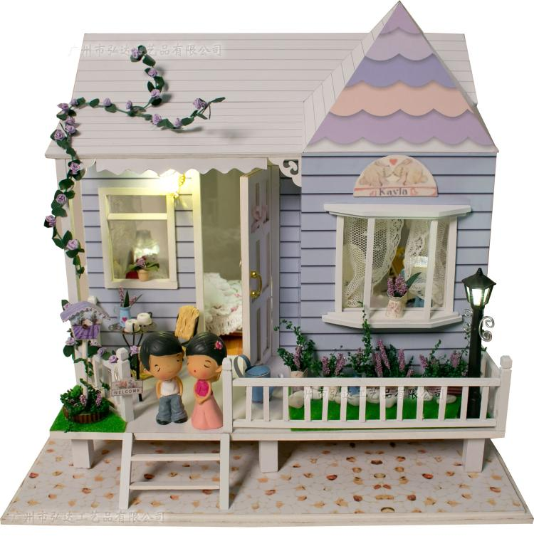 1 35 Doll Houses Diy Cabin Hand Assembled Large Building