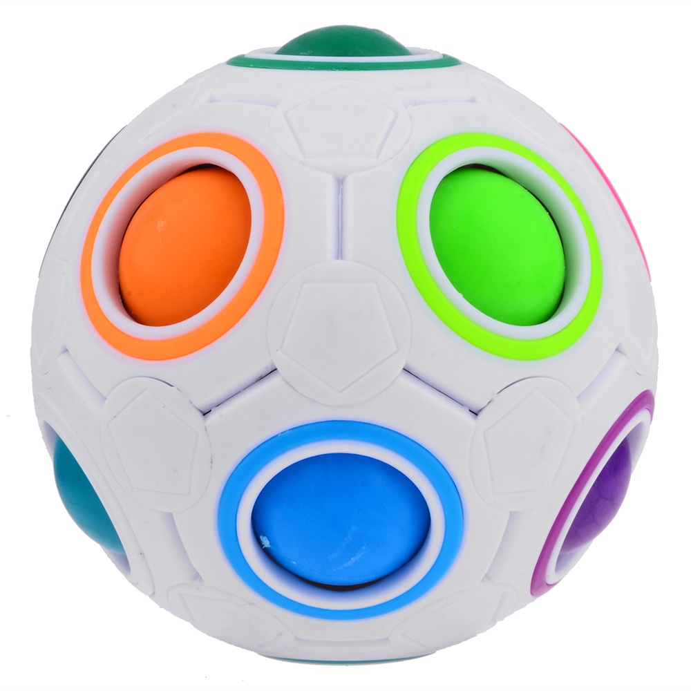 2015 New Yong Jun Rainbow Ball Football Magic Speed Cube Puzzle Cubes Educational Toy Special Toys(China (Mainland))