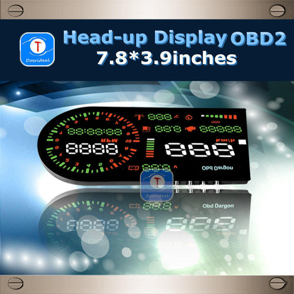 new arrival large screen obd2 car hud head up display. Black Bedroom Furniture Sets. Home Design Ideas