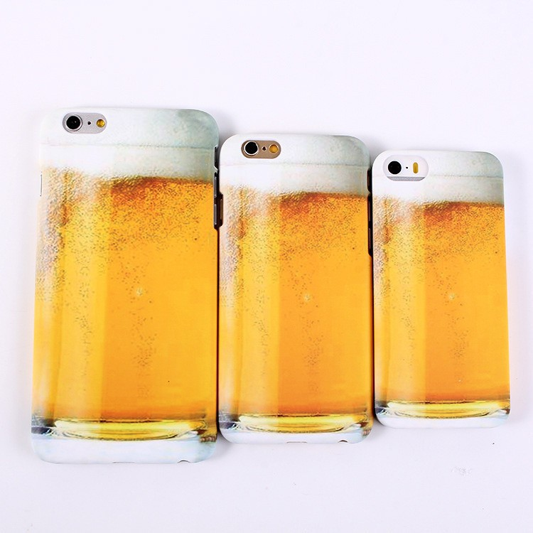 Beer Wine Cup Glass Design Hard Plastic Case For iPhone 6 plus 4.7 5.5 inch I6 6plus Celular 6G 5 5S 5G Back Skin cove(China (Mainland))