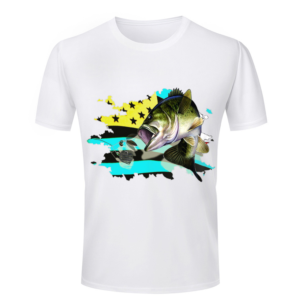 Wholesale summer style men 39 s 3d t shirt fish animal for Wildlife t shirts wholesale