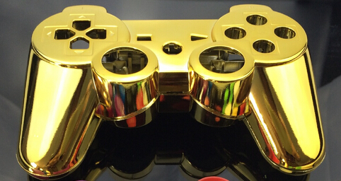 Custom chrome gold golden color shell for PS3 Controller gold golden Shell mod kit without small parts(China (Mainland))