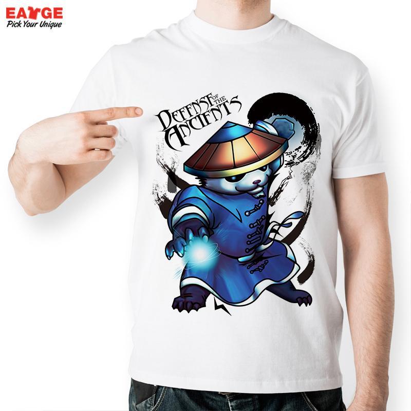 [EATGE] Game T-shirt Panda Master Thunder Ball T Shirt Chinese Water Color Fashion Cool Style Tshirt Men Women Printed Tee(China (Mainland))