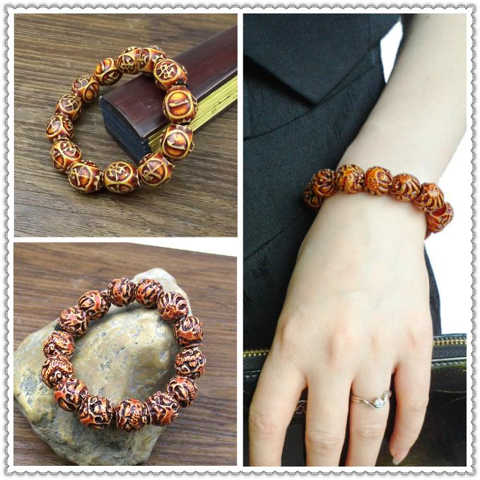 2015 New Fahion Europe And America Sell Well Retro Resin Dragon Beaded Bracelet Free Shipping 6Z-Sl047(China (Mainland))