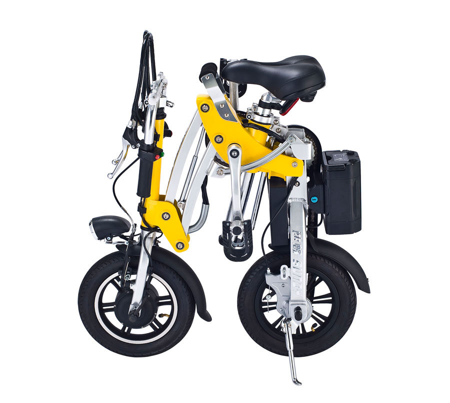 12 Mini Folding Electric Bicycle Foldable Bike Cool