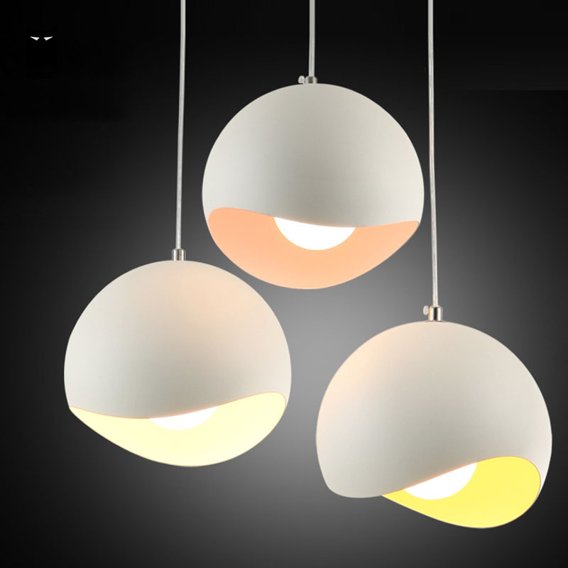 3 Pcs/Lot 20cm Aluminium Egg Pendant Light Cord Fixture Modern Nordic Hang Lamp Luminaire for Bar Counter Dinning Table Room(China (Mainland))