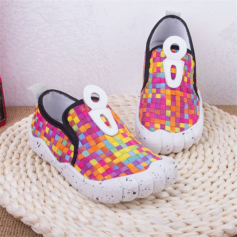 2016 Soft Bottom Boys Girls Sneakers Colorful font b Tartan b font Check Children Casual Shoes