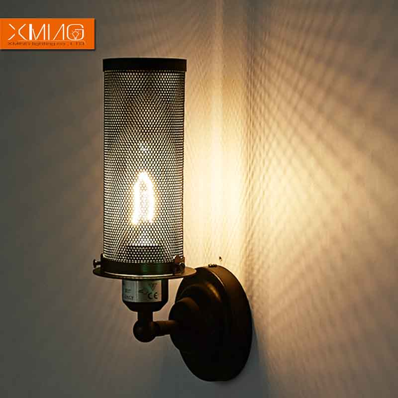 Retro Wall Lamp Shades : vintage wall lamp retro rustic wall sconces black lamp shade iron material the best light for ...