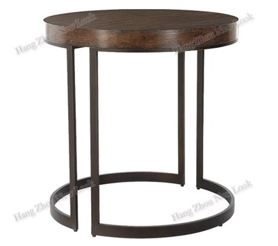 american rural retro iron wood office furniture tables
