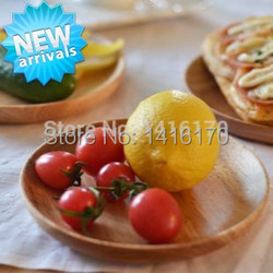 Rubber wood plate dessert dish melon seeds dish snack dish japanese style tableware