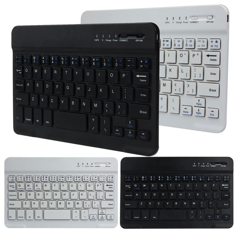 Ultra Slim Aluminum Wireless Bluetooth Keyboard Teclado For IOS Android Windows PC(China (Mainland))